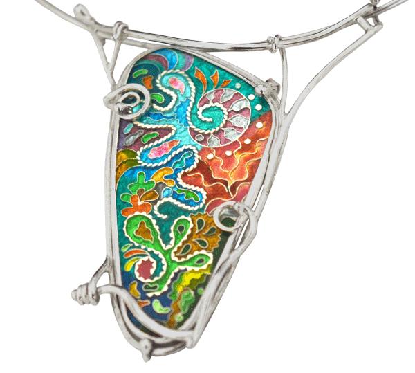 Cloisonne enamel jewelry | Manas-Juwelen.nl